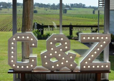 Mirror White Collection Initials Sign
