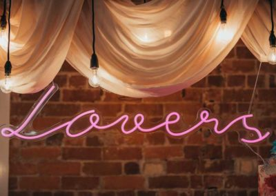 lovers pink neon sign