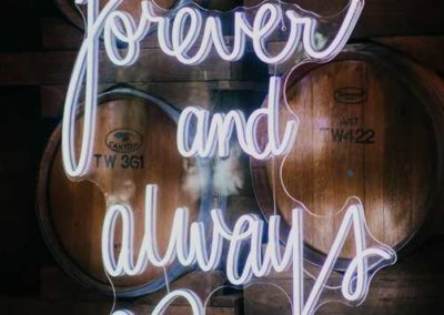 FOREVER AND ALWAYS NEON SIGN