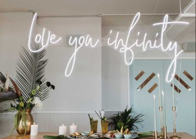 love you infinity neon sign